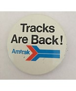 "Amtrak Passenger Train Tracks Are Back 2"" Pinback Button Railroad Advert... - $4.92"