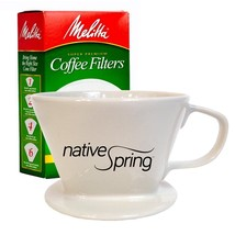 Ceramic Coffee Pour Over Dripper Single Serve Gift Pack Includes Melitta... - €7,44 EUR