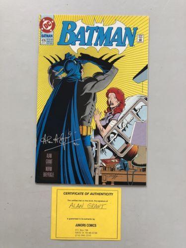 Batman (1940) #476 Signed by Alan Grant VF Very Fine