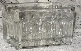 Pressed Clear Glass Rectangle Container/Relish/Condiment/Open Salt - $6.00