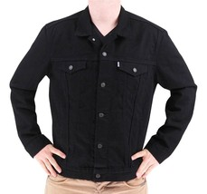 Levi's Men's Premium Cotton Button Up Denim Jeans Jacket Black 723350013 size S