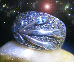 HAUNTED RING THE TEAL STAR CLEANSING GROWTH PROGRESS MAGICK SECRET OOAK ... - $8,907.77