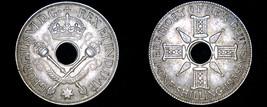 1938 New Guinea 1 Shilling World Silver Coin - $17.99