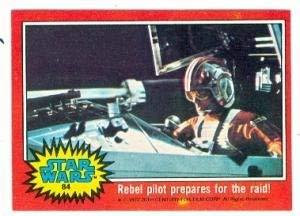 Primary image for Star Wars card #84 1977 Topps Rebel pilot prepares for the raid!