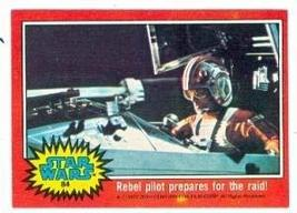 Star Wars card #84 1977 Topps Rebel pilot prepares for the raid! - $4.00