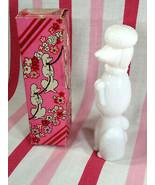 Darlig Vintage Avon Bon Bon White Poodle Perfume Bottle Topaze Cologne F... - $10.00