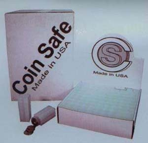 CoinSafe Square Large Dollar Coin Tubes (Qty = 5 Tubes)