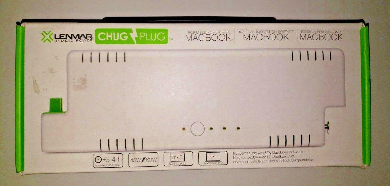 Lenmar Undead Power Chug Plug Apple Macbook Portable Power Charger PPWMB65