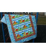 Quilt for Baby or Child-Dinosaur Quilt-Throw Size Blanket-Quilt for Child - $92.57