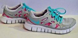 Girls Nike Free Run 2 Platinum Pink Flash Running Shoes Size 6Y 599728-008 - $25.51