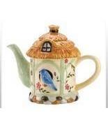 Birdhouse Teapot Ceramic - $17.95