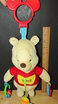 Disney Winnie the Pooh plush chime rattle hanging crib stroller toy ring... - $8.90
