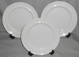 Set (3) Metlox Colorstax GRAY COLOR Dinner Plates MADE IN CALIFORNIA - $55.43