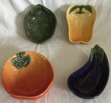 Williams Sonoma  JARDIN POTAGER  Vegetable Dip Bowls Set of 4 Condiment ... - $21.77