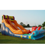 Commercial Inflatable Double Lane Slip Dry, Water Slide Pirate Ship Wate... - $3,950.00