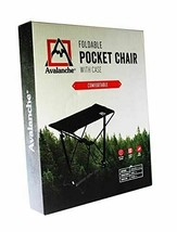 Avalanche Foldable Black Camping Pocket Chair with Case - $24.00