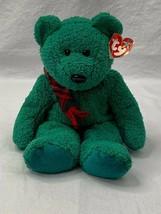 "TY Beanie Buddy Wallace Green Teddy Bear Plush Stuffed Animal 13"" - $9.75"