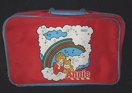 Vintage World Of Annie Orphelin Poupée Enfants Rouge et Bleu Valise De É... - $63.64
