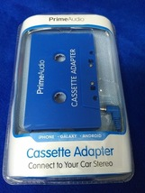 iWorld Prime Audio Cassette Adapter - Blue - Plug and Play iPod iPhone MP3 - $17.95