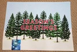 St. Nicholas Square Season's Greetings Placemat Snow on Pine Trees NWT R... - $4.50