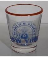 New York Souvenir Shot Glass Shotglasses New York Worlds Finest - $8.99