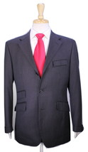 * BURBERRY * Black Label Brown w/ Sky Blue Striped Savile Row 3-Btn Suit... - $300.00