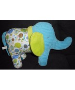 Maison Chic Elephant Plush Stuffed Animal Blue Green Trees 2010 Textured - $29.68