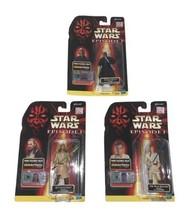Star Wars Episode 1 Jedi Duel Figures Lot Darth Maul Obi Wan Qui Gon Jinn - $44.66