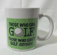 Golf Humor Coffee Mug White Cup Ceramic Tea Latte Hallmark Collectible Gift - $13.09