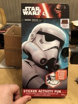 Star Wars Disney Storm Trooper Sticker Activity Fun Portfolio Play Set - $14.80