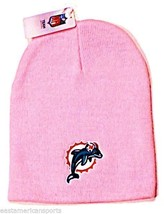 Miami Dolphins NFL Pink Knit Hat Cap Breast Cancer Beanie Womens Girls W... - $9.99