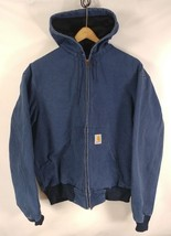 Carhartt  Blue Duck Canvas Insulated Hooded Zip-Up Jacket Men's Size Large - $48.37