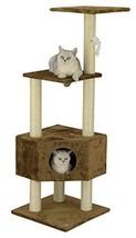 Go Pet Club Cat Tree Condo House Furniture, 51-Inch, Brown - $42.03