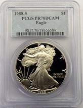 1988 S American Silver Eagle PCGS PR70DCAM $1 Proof Coin PR70 PF70 Lot # SR 67