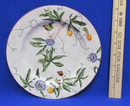 "Salad Plate American Atelier At Home Floral Vine Wild Flower Blue # 5016 8"" - $9.85"