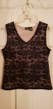 Mossimo black lace top with liner...medium, stretch for comfort black tank top - $7.70