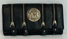 Michael Kors Black Leather Multiple Zip Around Wallet - $17.30
