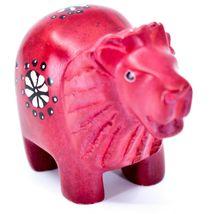 Tabaka Chigware Hand Carved Kisii Soapstone Red Lion Figurine Made in Kenya image 4