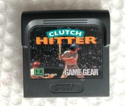☆ Clutch Hitter (Sega Game Gear 1991) AUTHENTIC Game Cart Tested Works ☆ - $4.00