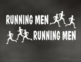 RUNNING MEN MAN PAIR decal for marathon jogging runner for Olympic mile ... - $8.83