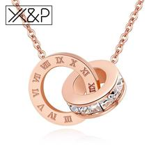 X&P Fashion Luxury Gold Roman Numerals Long Necklace Pendant for Women G... - $12.00