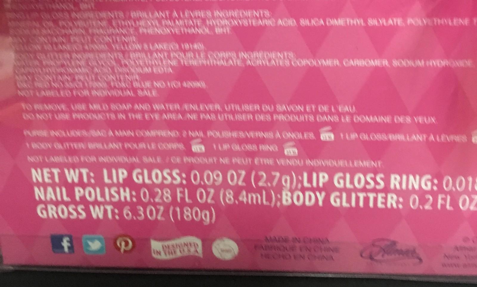 My Princess Academy Cosmetic Purse Ages 5+ Lip Gloss, Polish, Body Glitter