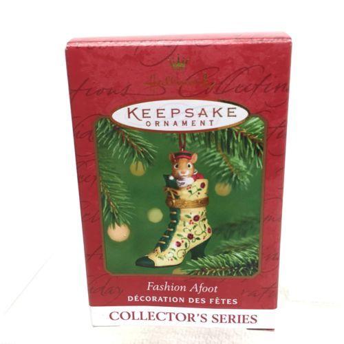 2001 Hallmark Fashion Afoot #2 Hinged Christmas Tree Ornament MIB w Price Tag H6 - $12.38