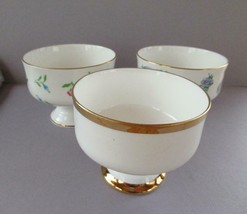 "Royal Victoria fine bone china  bowls set of 3 footed desert sherbet 4"" - $8.77"