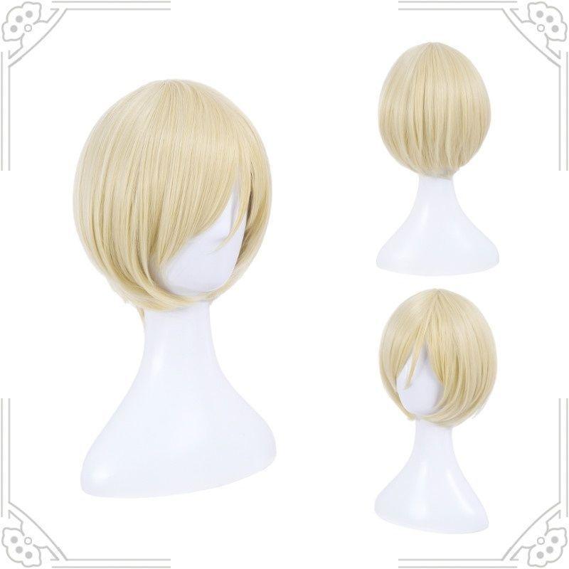 Yuri!!! on Ice Cosplay Wig Yuri Plisetsky Hair Blonde Short Wigs