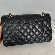 BRAND NEW AUTH Chanel Medium Black Caviar Classic Double Flap Bag GHW image 3