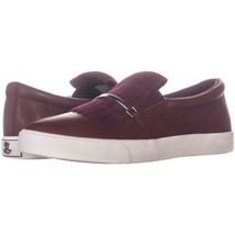 Lauren Ralph Lauren Reanna Slip On Tassel Sneakers 994, Red, 5.5 US / 36... - $35.51