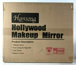 Hansong Large Vanity Mirror with Lights and 15 Dimmable LED Bulbs in White - $118.79