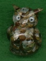 UNIQUE OWL WITH ROCK CHIPS - $8.50