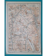 "1905 BAEDEKER MAP - Belgium Gent Town City Canter Plan  4"" x 6"" (10 x 15... - $6.75"